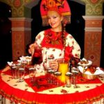 Леди-фуршет в русско-народном стиле
